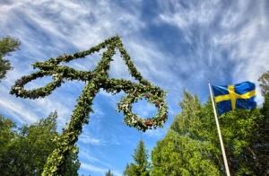 Midsummer celebrations in  Stockholm, Sweden